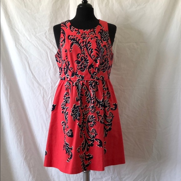 crown & ivy Dresses & Skirts - Sleeveless Coral/Navy dress